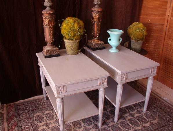 Pair of Top Quality End Tables By Auffray & Company. -