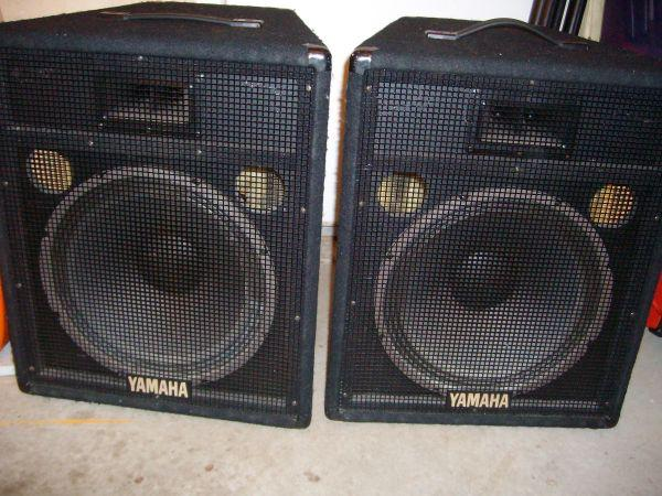 pair of yamaha sv15 speakers 15in burton for sale in