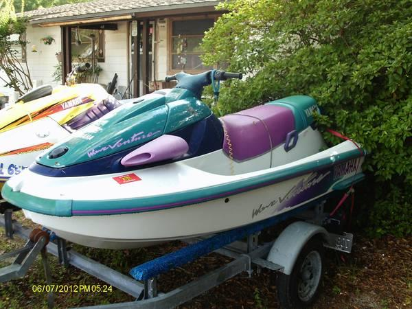 PAIR/SET OF YAMAHA JET SKIS-DBL TRLR