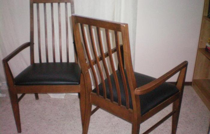 Pair Vintage Lane Mission Arts And Crafts Dining Chairs