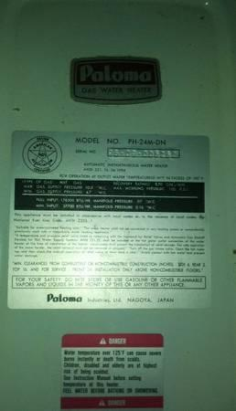 Paloma Tankless Water Heater For Sale In Blairsville