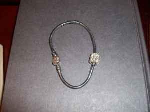 Pandora bracelet and charm - $50 Athens