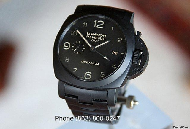 Panerai PAM 438 Luminor Marina GMT Ceramic Tuttonero