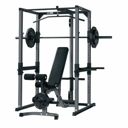 Parabody Power Squat Rack W Lat Tower For Sale In