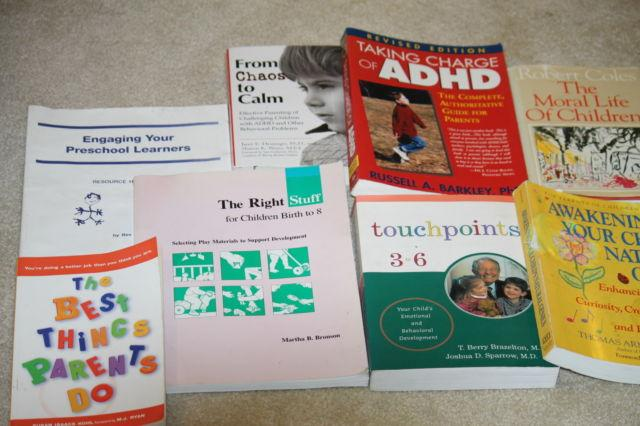 PARENTING, ADHD, CREATIVE LEARING BOOKS, LOT OF 8...