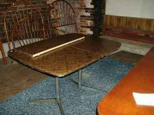 Parquet Formica Table Kitchen Vintage Mid Century Modern Trolley - Mid century modern formica table