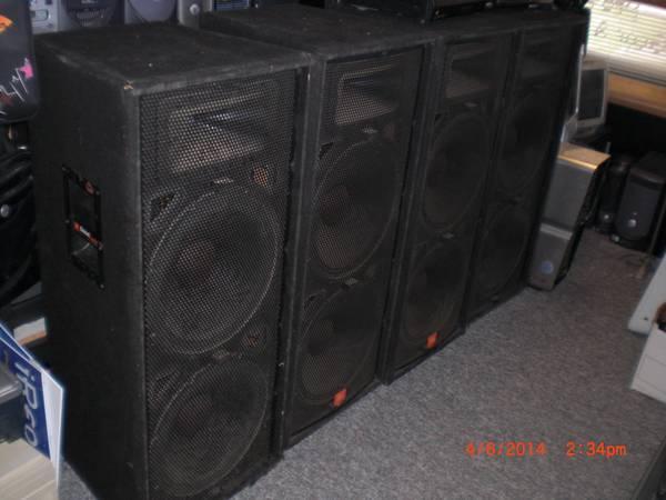 Passive JBL JRX-100 PA Speakers w/ Double 15