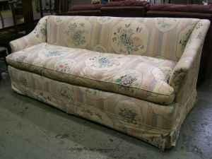 Pastel Floral and Stripe Sofa - $110 (1801 Union Blvd,
