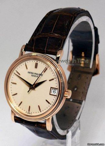 Patek Philippe 3802 Calatrava 18k Rose Gold Mens Watch