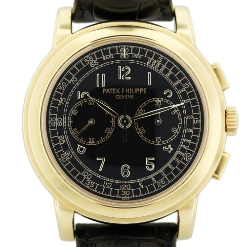 Patek Philippe 5070J Chronograph 18k Yellow Gold Mens