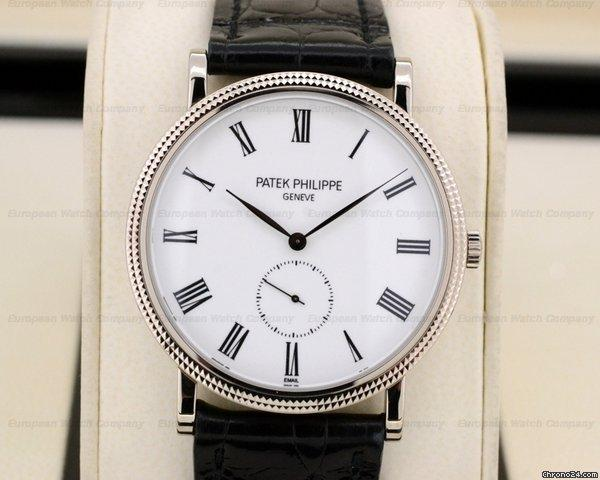 patek philippe calatrava 18k white gold enamel dial for. Black Bedroom Furniture Sets. Home Design Ideas