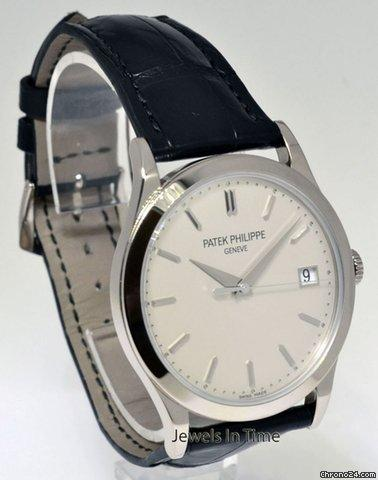 Patek Philippe Calatrava 18k White Gold Mens Watch &