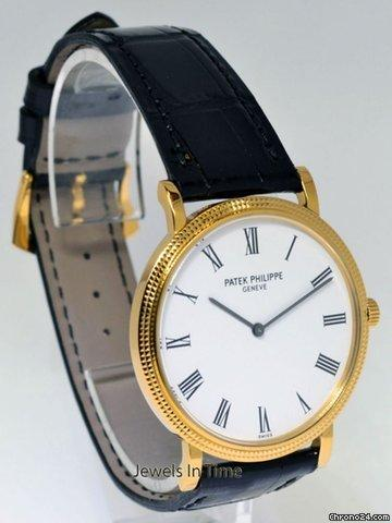 Patek Philippe Calatrava 18K Yellow Gold Mens Wrist