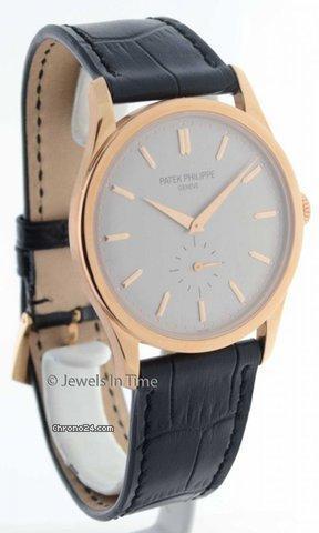 Patek Philippe Calatrava 5196 18K Rose Gold Mens Watch
