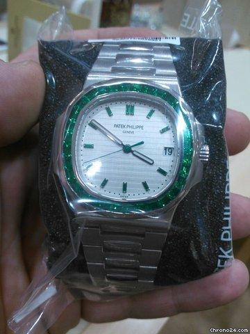 Patek Philippe Nautilus Platinum Emerald Baguette Bezel