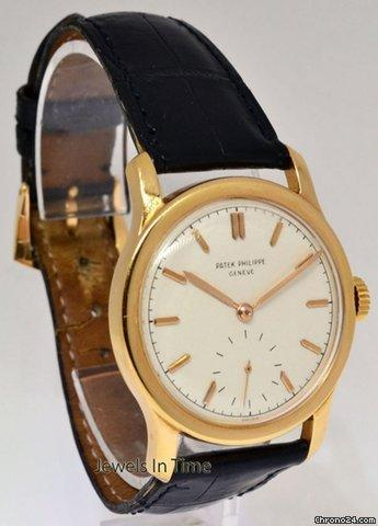 Patek Philippe Rare Vintage 18k Rose Gold Mens 18J
