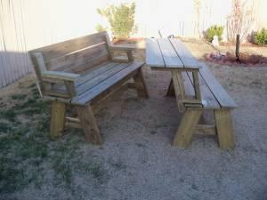 Patio Bench Table Combo Ama For Sale In Amarillo Texas Classified