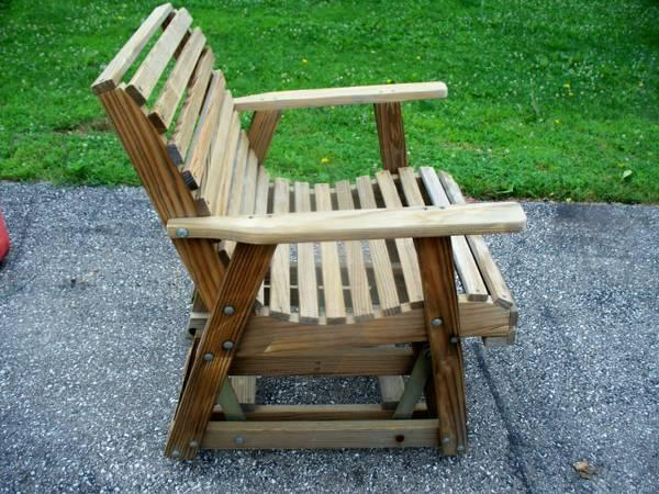 Patio chair glider rocker treated wood for sale in for Outdoor furniture zanesville ohio