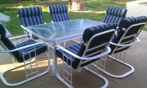 Patio Set 6 Chair Table Amp Umbrella For Sale In Omaha
