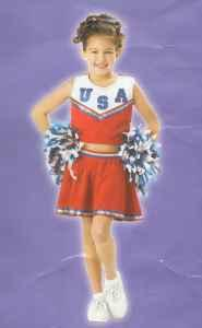 Patriotic USA CHEERLEADER Costumes - 2 Large - $15 Council Bluffs
