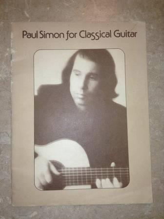 Paul Simon for Classical Guitar Sheet Music 1977 - $35
