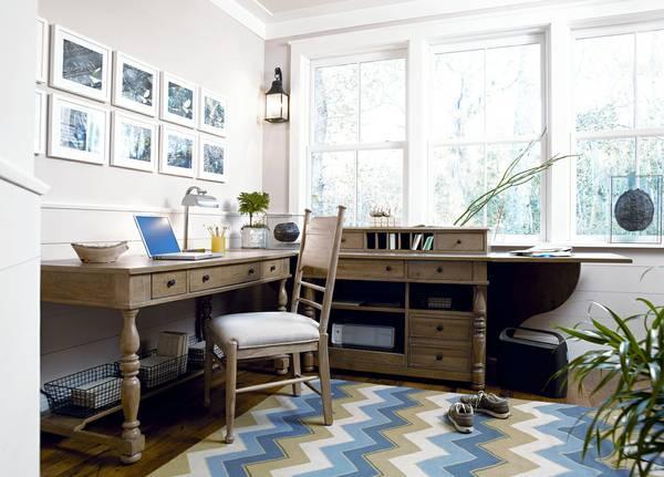 Paula Deen Elegant Office Drop Leaf Cabinet Desk For