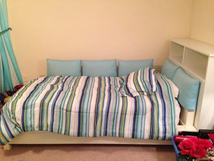 PB Teen Bedroom Set: Dresser, Bed Frame, Bedside Table