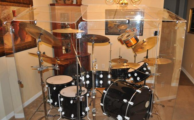 pdp 805 39 s drum set with sheild custom cut by pork pie wesley chapel for sale in ocala. Black Bedroom Furniture Sets. Home Design Ideas