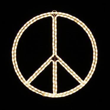 Peace Sign Symbol Holiday Lighting Display Wall Decor