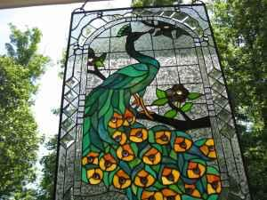 Peacock Stained Glass Spartanburg For Sale In