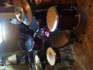 pearl drum set - $200 omaha