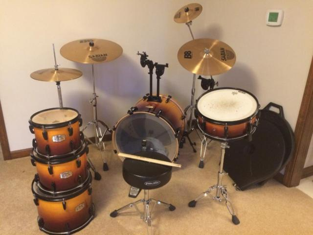 Pearl ELX Export Series Drums in Sunburst