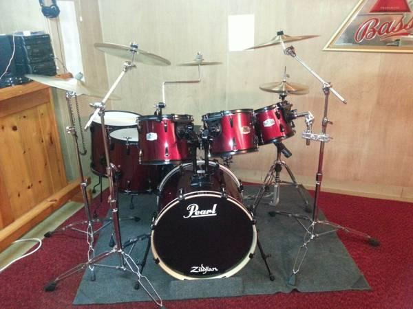Pearl export ex drum set 7 piece for sale in west for 18 inch floor tom for sale