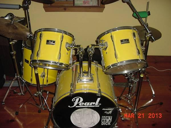 PEARL EXPORT SERIES DRUM KIT WITH ZILDJIAN - $575
