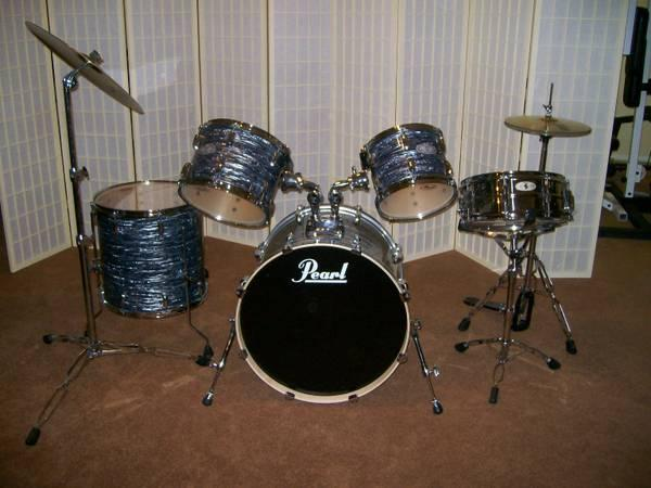 pearl vision 5 piece drum set for sale in mohave valley arizona classified. Black Bedroom Furniture Sets. Home Design Ideas