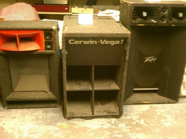 Peavey and Cerwin Vega PA Speakers - $75