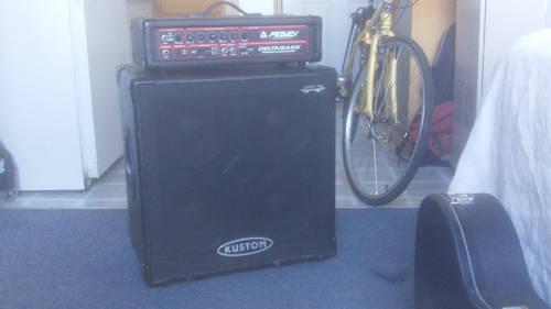 Peavey Deltabass Head  Kustom Deep End 4x10 Cab