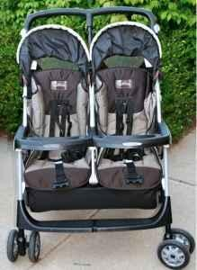 Peg Perego Aria 50/50 Double Stroller in Chocolate & Slate for ...