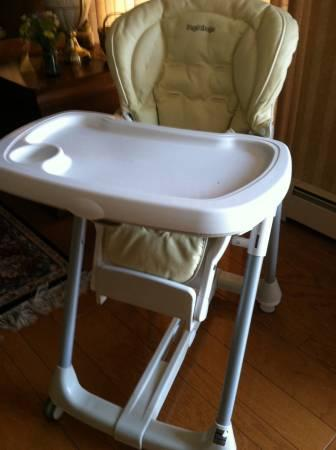 PEG PEREGO PRIMA PAPPA BEST HIGH CHAIR GREAT CONDITION IN TAN LEATHER - $70