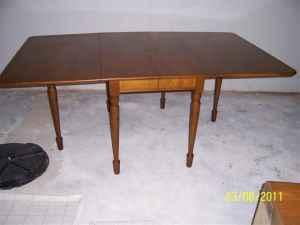 pennsylvania house drop leaf maple dining table ne