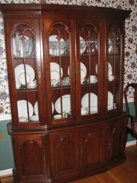 Pennsylvania House Solid Cherry China Cabinet And Dining Set For Sale In Rockville Maryland