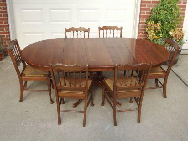 PENNSYLVANIA HOUSE SOLID CHERRY KITCHEN / DINING TABLE PLUS ...