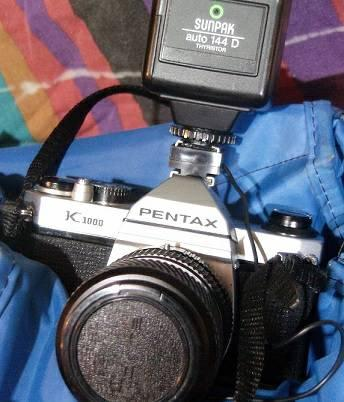 Pentax K1000 35mm camera with extra lenses - $275