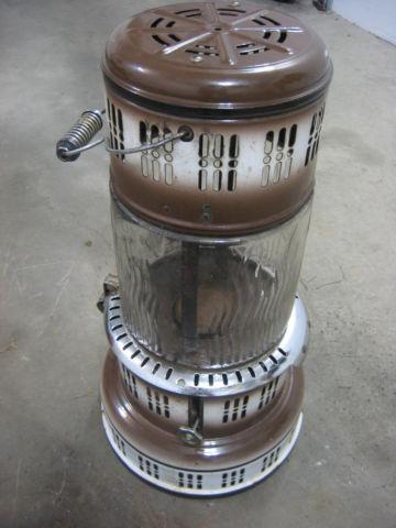 Perfection 750 Kerosene Heater Antique Rustic Glass Globe Brown for Sale in Ceylon, Indiana