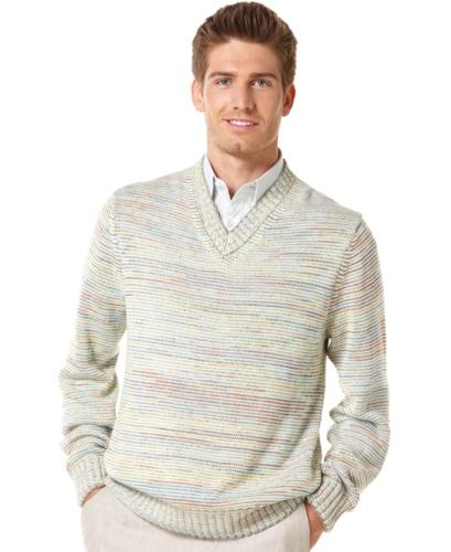 Perry Ellis Sweater, Space Dye V-Neck Sweater
