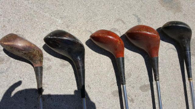 Persimmon Wood Head Golf Clubs For Sale In Montclair California