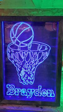 Personalized Acrylic color changing LED shadow boxes