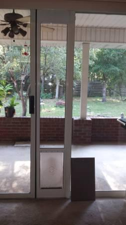 Petsafe freedom patio doggie door - $100