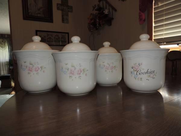 Pfaltzgraff Tea Rose Canister Set - for Sale in Wesleyville ...