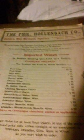 Phil Hollenbach Co advertising and order book from 1910